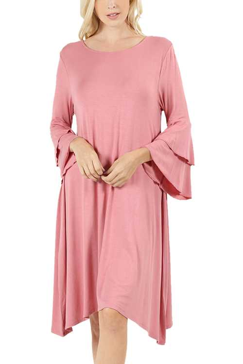 Double Bell Sleeve Dress