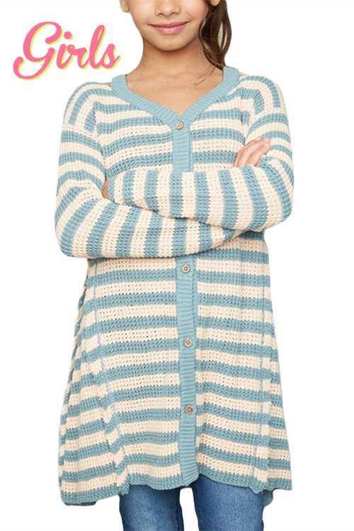 Stripe Knit Cardigan GIRLS
