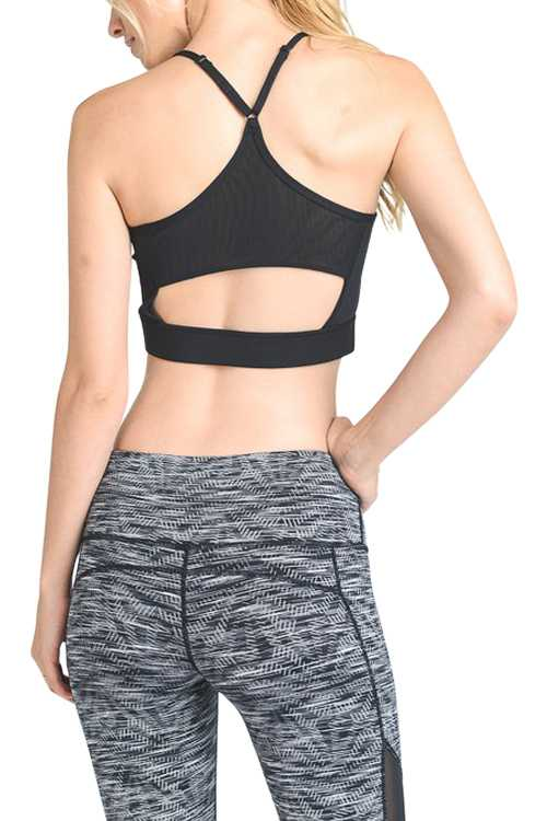 Racer-back Cutout Detail Crop Top