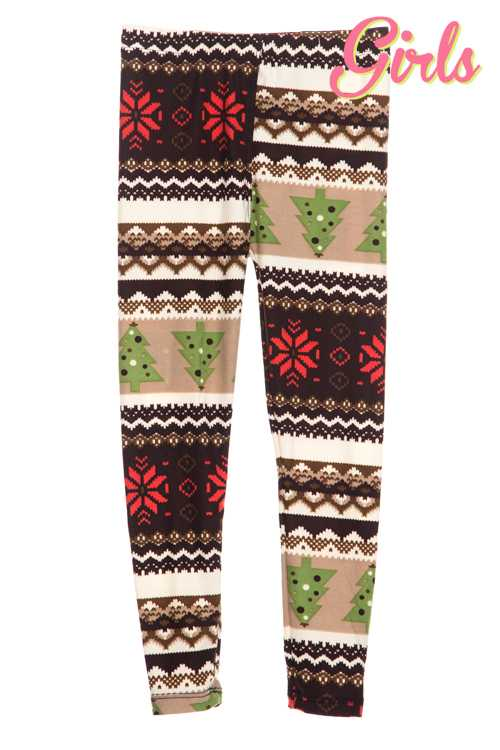 Christmas Mixed Print Leggings GIRLS