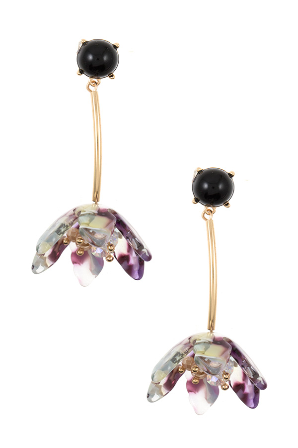 UPSIDE DOWN DROP FLOWER EARRING