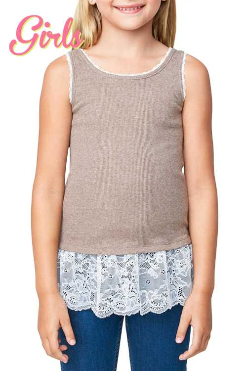 Lace Hem Tank Top GIRLS