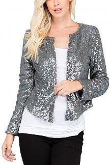 Sequin Jacket With Mid Hook
