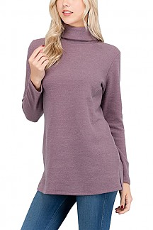 Turtle Neck Long Sleeve Sweater Top