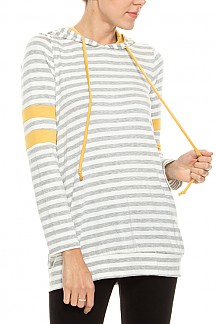 Stripe Print Hooded Sweater Top