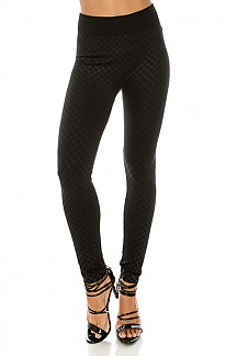 Checkered Pattern Fleece Leggings