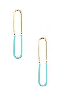 TWO TONE LINK EARRING