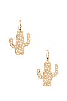 CUT OUT CACTUS EARRING