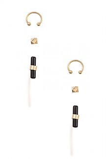 FAUX GEM BAR WITH NOSE RING SET